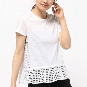 Kate Spade White Peplum Shirt